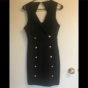 NWOT. Black Dress with Unique buttons